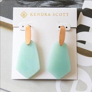 Kendra Scott Camila Rose Gold Amazonite Earrings